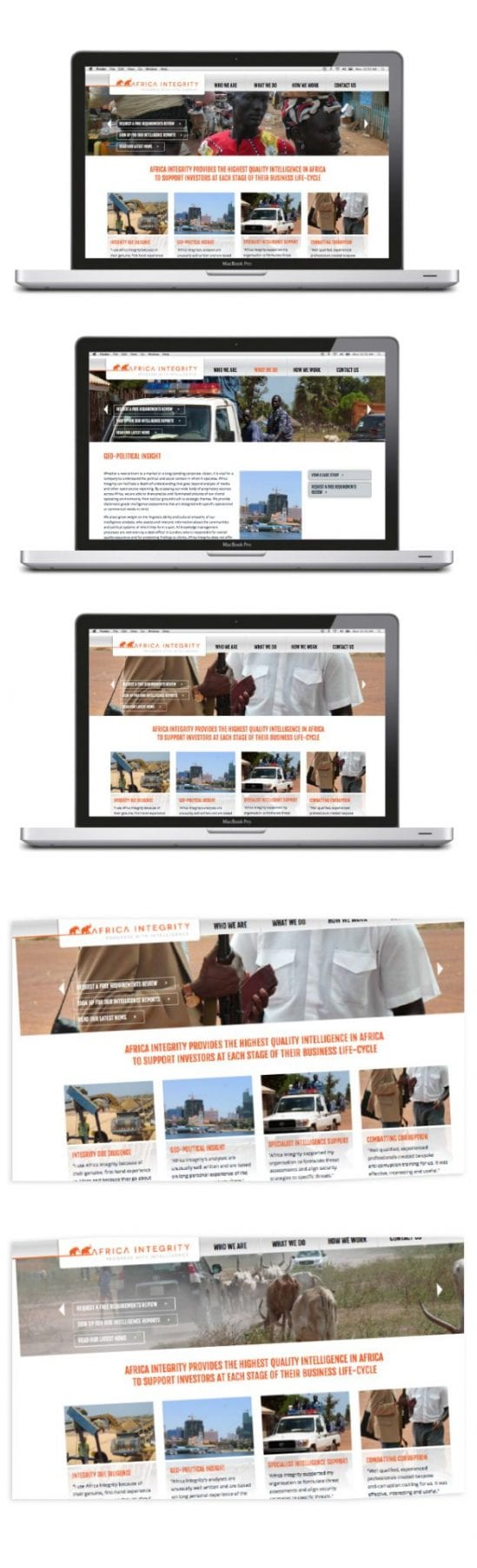 Image of africa integrity website designed by Graphic designer and branding designer Jessica Croome of Perth WA