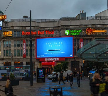 Image of blu billboard designed by graphic designer and branding designer Jessica Croome of Perth WA