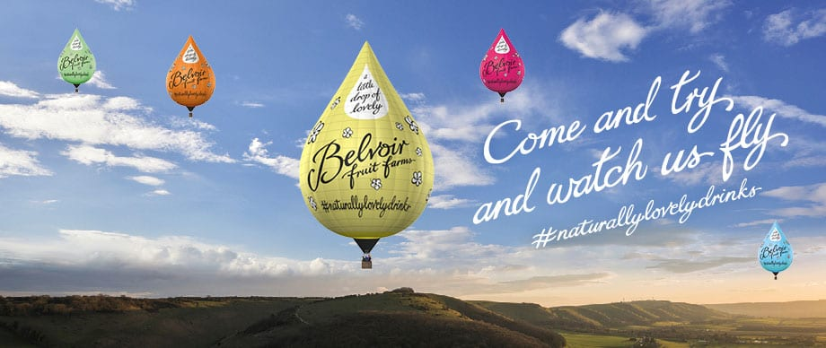 Images of Belvoir Balloon web banner, designed by graphic designer and branding designer Jessica Croome of Perth WA
