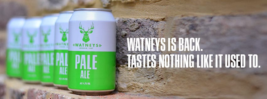 Image of can design and slogan for Watneys Pale Ale, designed by branding designer and graphic designer Jessica Croome of Perth Western Australia