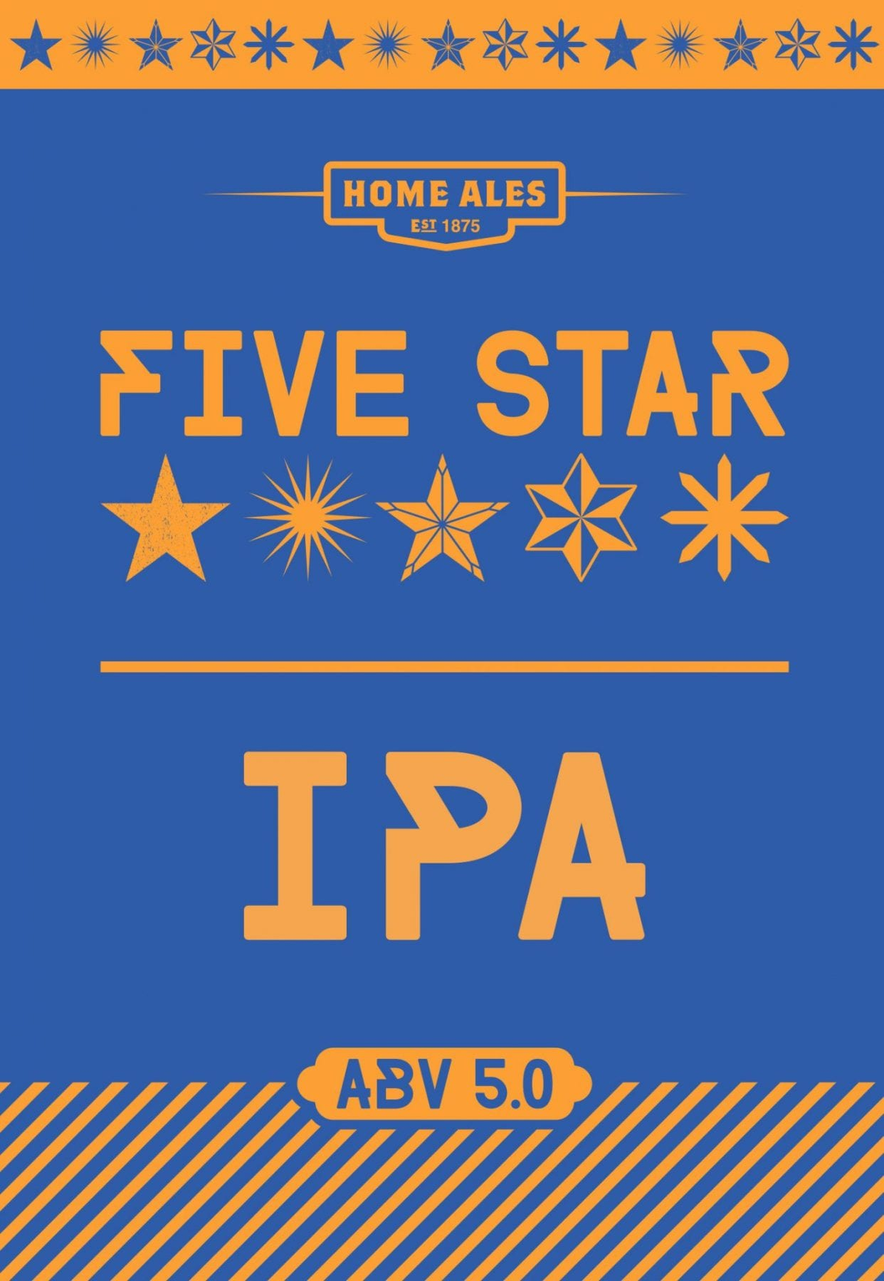 Design for Five Star IPA pump clip designed by branding designer and graphic designer Jessica Croome of Perth, WA