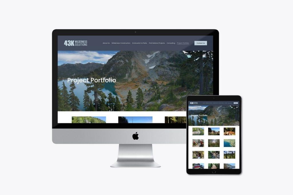 43k Wilderness Solutions website design