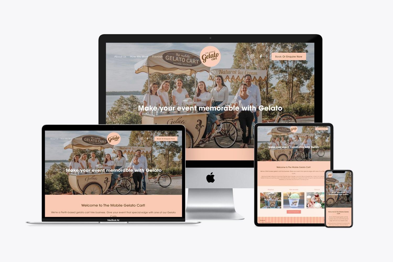 The Mobile Gelato Cart web design perth