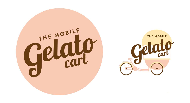 The mobile gelato cart logo design perth